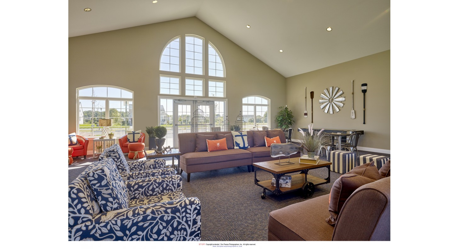 Kent County New Homes For Sale Smyrna DE Clubhouse Interior