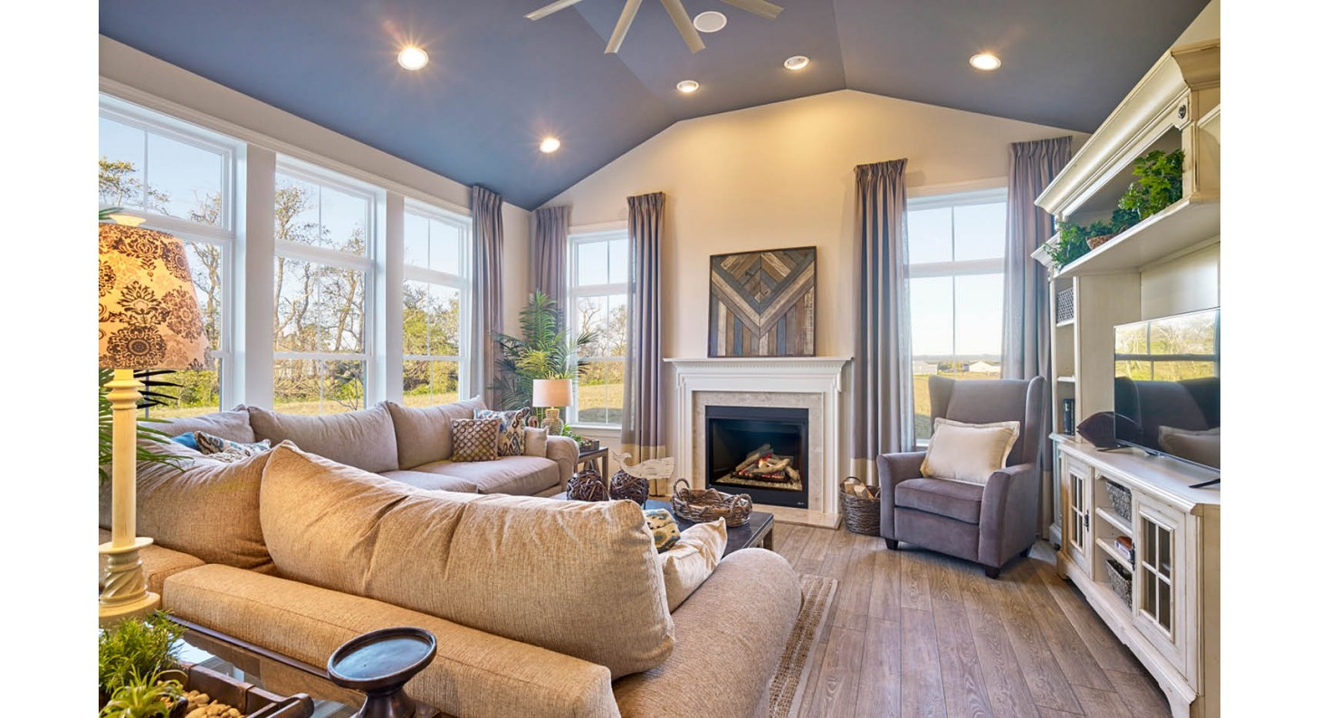Cedar Grove Living Room Sussex County New Homes in Lewes Delaware