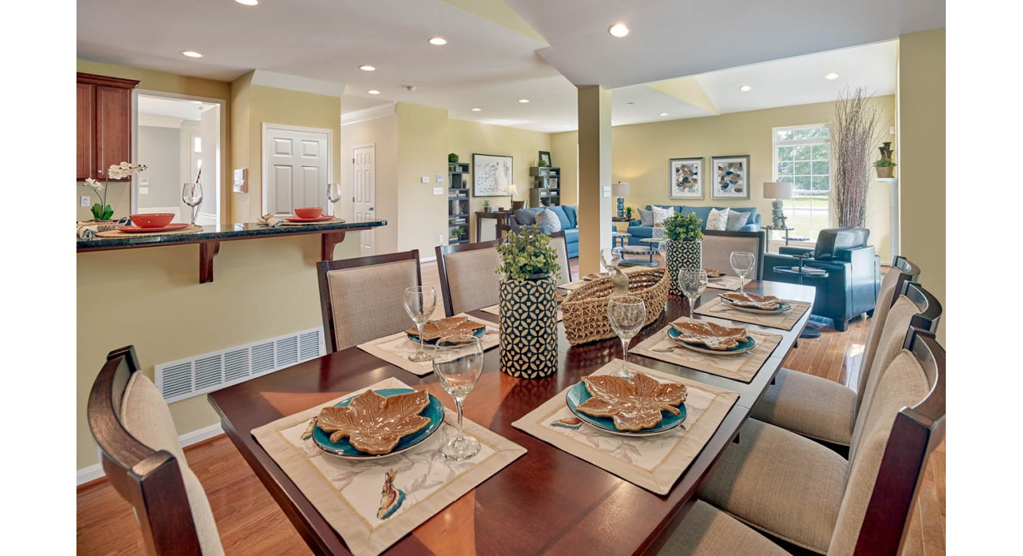 Sussex County New Homes in Lewes Delaware Dining Room Cedar Grove