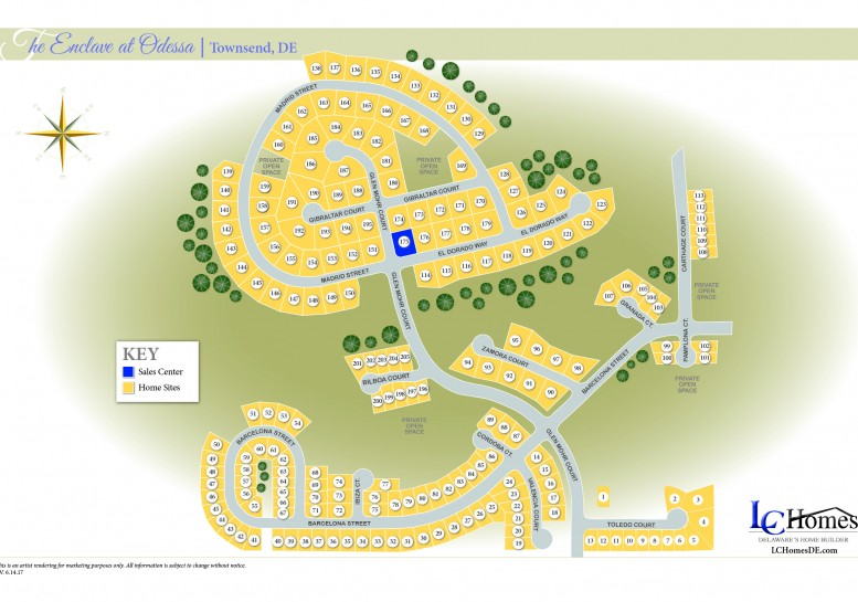 Community Map The Enclave at Odessa  1000 Bilboa Court, Townsend, DE 19734