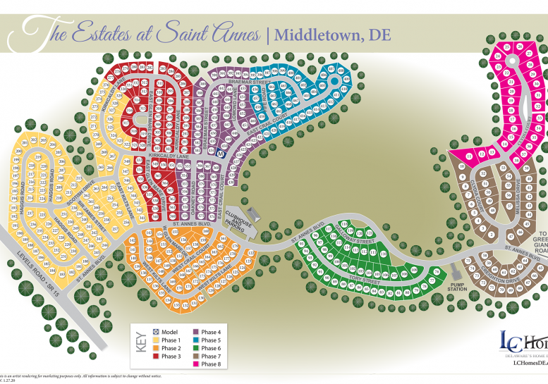 Community Map The Estates at Saint Annes 219 East Crail Court Middletown, DE 19709